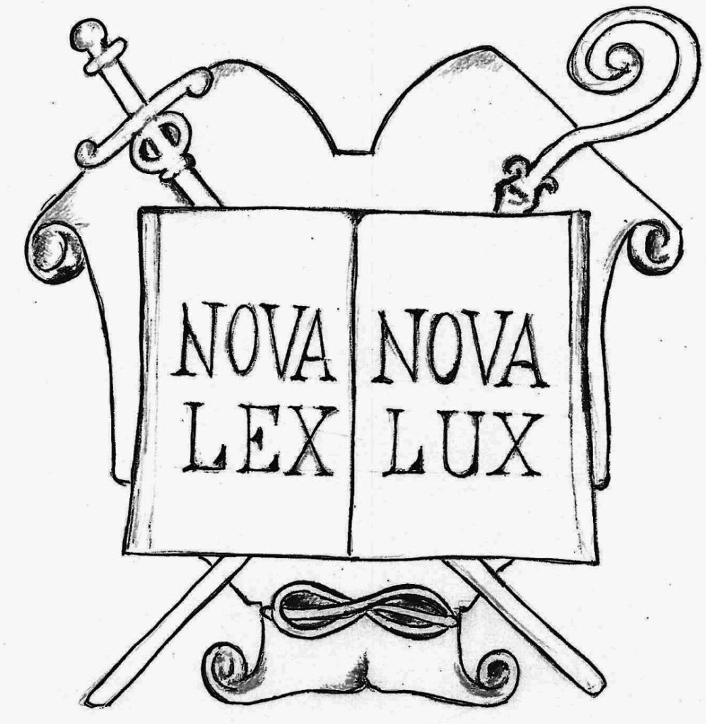 Stemma di Novalesa: Nova Lex - Nova Lux