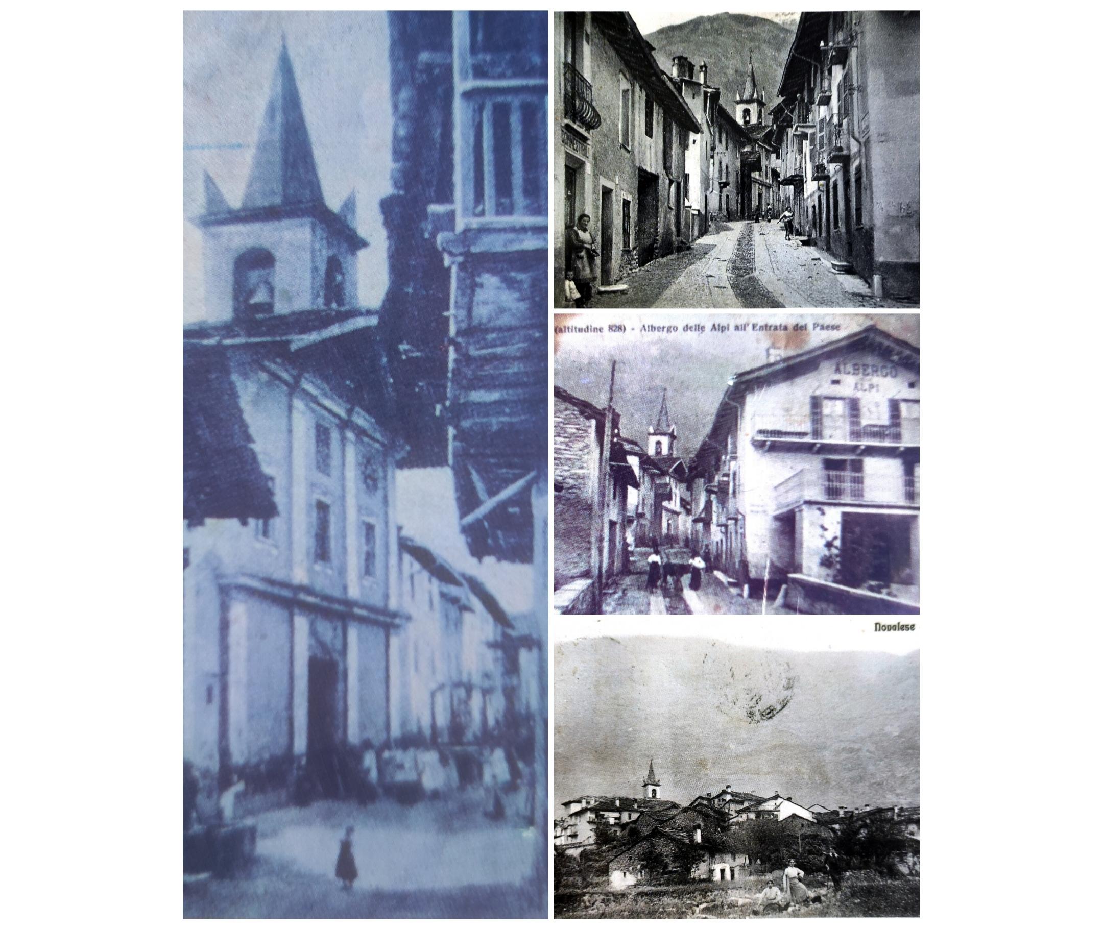 collage di fotografie del paese di Novalesa, in Val Cenischia