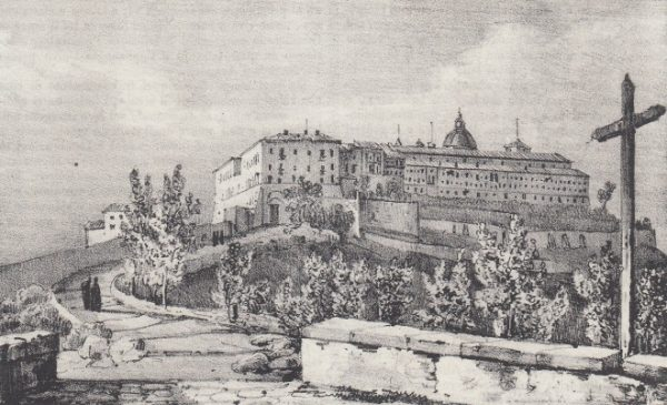 raffigurazione dell'Abbazia di Montecassino