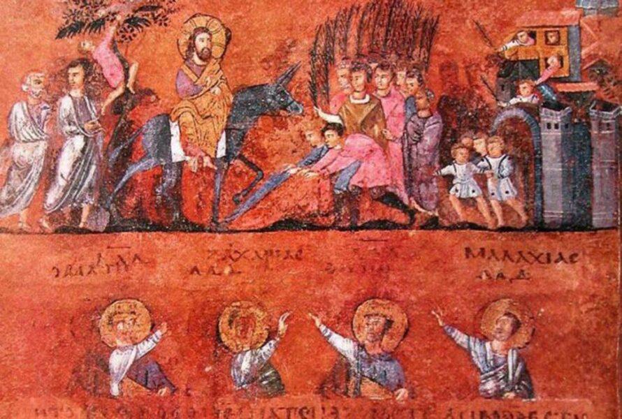 Codex Purpureus di Rossano, miniatura