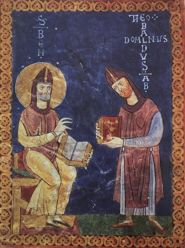 miniatura custodita nell'archivio dell'Abbazia di Montecassino