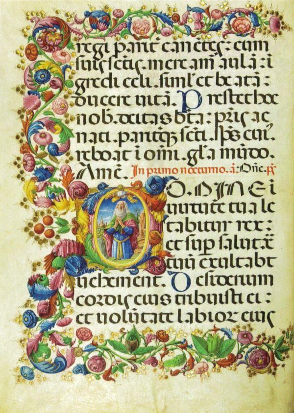 codice miniato custodito nella Biblioteca della Badia della Santissima Trinità di Cava de Tirreni
