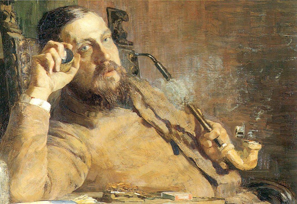 Ritratto di Vittore Grubicy de Dragon, Giovanni Segantini,1887