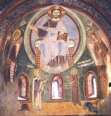 Abside affrescato della Cappella di Sant'Eldrado a Novalesa