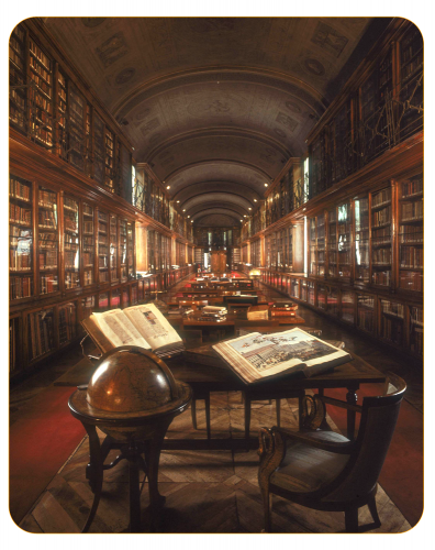 sala interna della biblioteca reale di torino
